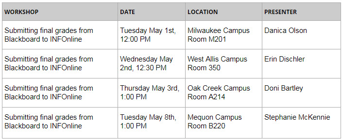 May-Workshops
